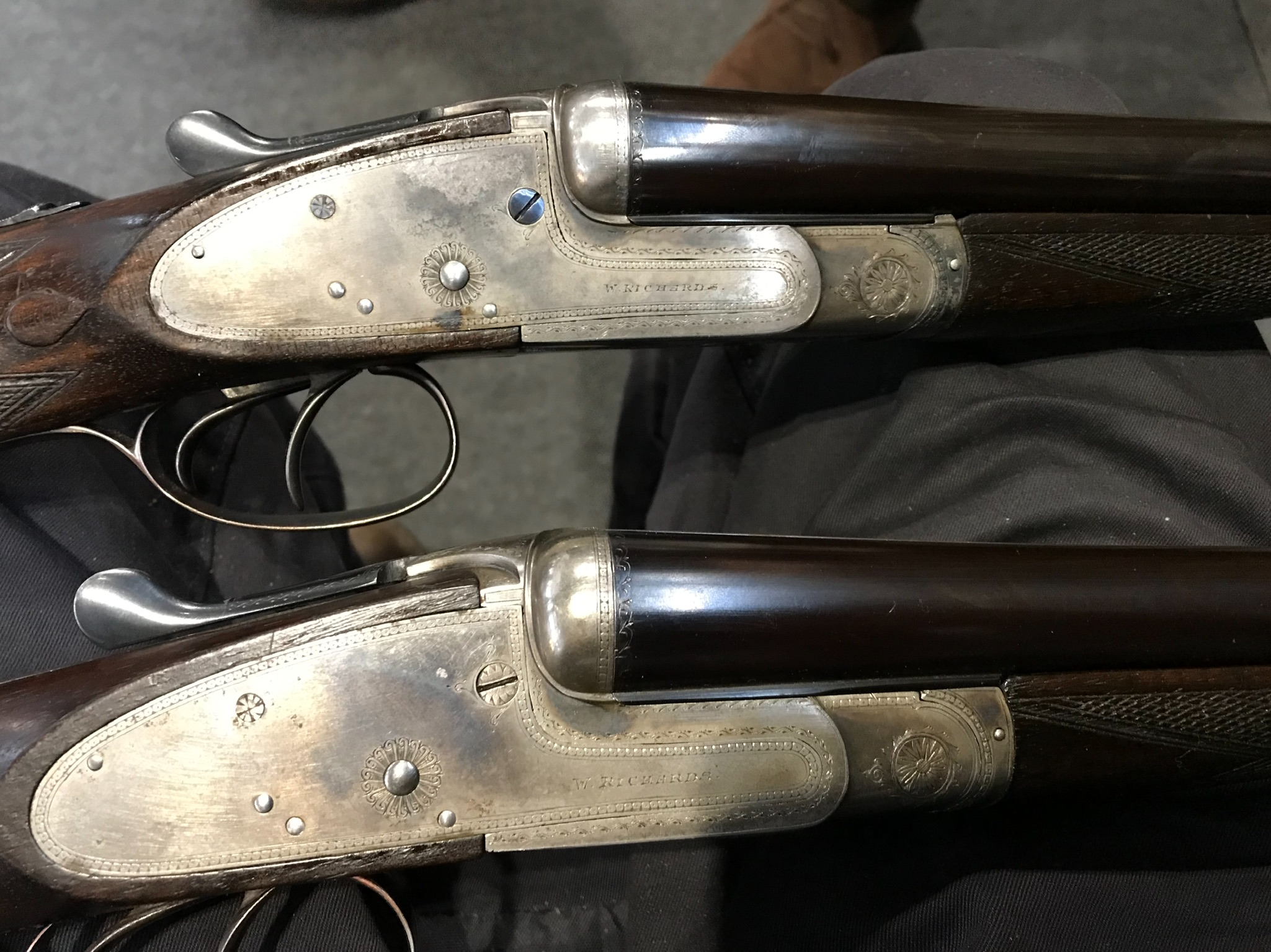 Pair 20 bore sidelocks
